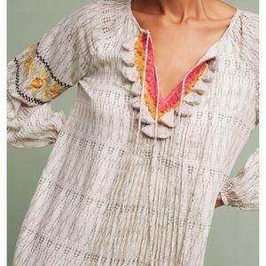 Anthropologie Ranna Gill Karina embroidered  dress